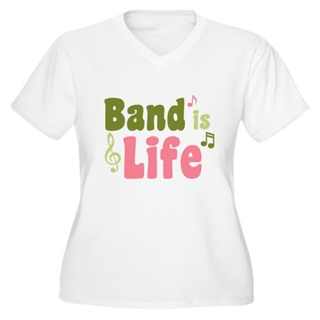 Band is Life Women's Plus Size V-Neck T-Shirt