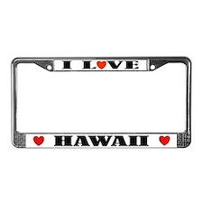 I Love Hawaii License Plate Frame