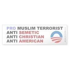 Obama Pro Terrorist, Bumper Sticker