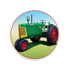 "Cool Oliver tractors 3.5"" Button"