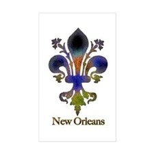 New Orleans colorful Fleur Rectangle Decal