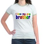 I Love My Gay Brother Jr. Ringer T-Shirt