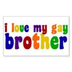 I Love My Gay Brother Sticker (Rectangle)