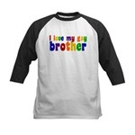 I Love My Gay Brother Kids Baseball Jersey