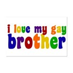 I Love My Gay Brother Mini Poster Print
