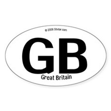 Great Britain Borderless Oval Decal