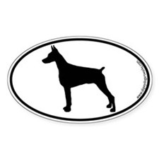 Doberman Pinscher SILHOUETTE Oval Decal