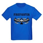 Firefighter Tattoos Kids Dark T-Shirt