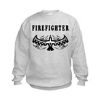 Firefighter Tattoos Kids Sweatshirt