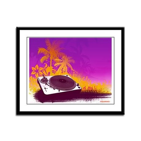 Turntable Paradise Framed Panel Print
