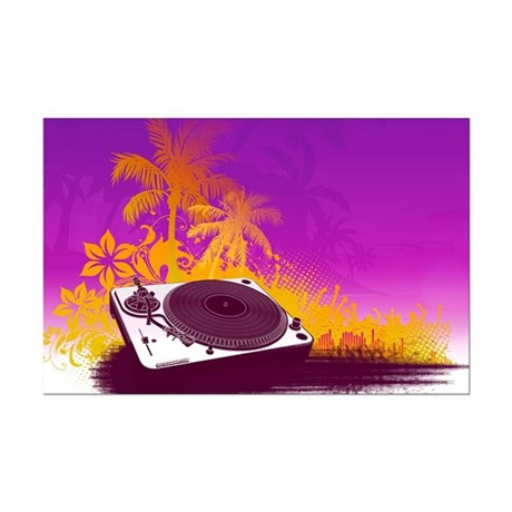 Turntable Paradise Mini Poster Print
