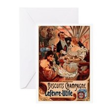 Biscuits Champagne Lefevre Utile by Mucha Greeting