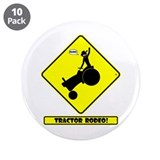 "RODEO DANGER Fun Stuff 3.5"" Button (10 pack)"