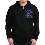 Crochet Purple Zip Hoodie (dark)