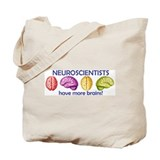 Cute Brain Tote Bag