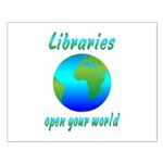 Libraries Small Poster