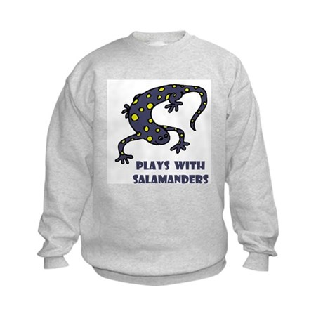 Plays With Salamanders Kids Sweatshirt