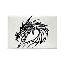 Tribal Dragon Head Rectangle Magnet (10 pack)
