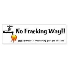 No Fracking Way White Bumper Sticker