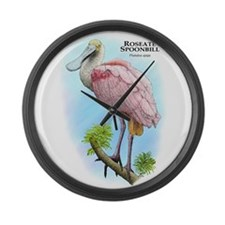 Roseate Spoonbill Large Wall Clock