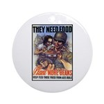 Plant More Beans Poster Art Ornament (Round)