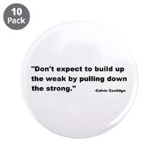 "Calvin Coolidge Quote 3.5"" Button (10 pack)"