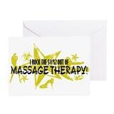 I ROCK THE S#%! - MASSAGE THERAPY Greeting Cards (