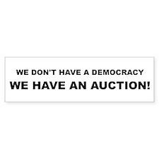 Democracy-Auction Car Sticker