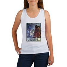 Fight for Liberty Poster Art Women's Tank Top