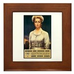 Nurses Needed Now Poster Art Framed Tile