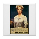 Nurses Needed Now Poster Art Tile Coaster