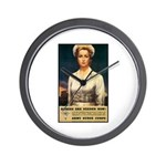 Nurses Needed Now Poster Art Wall Clock