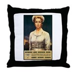 Nurses Needed Now Poster Art Throw Pillow