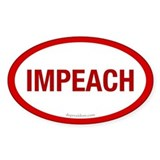 Red Impeach Oval Decal