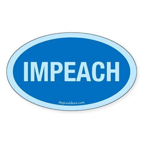 Blue Impeach Oval Sticker