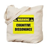 WARNING: Cognitive Dissonance Tote Bag