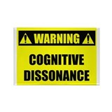 WARNING: Cognitive Dissonance Rectangle Magnet (10