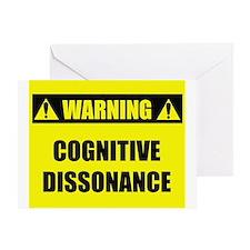 WARNING: Cognitive Dissonance Greeting Card