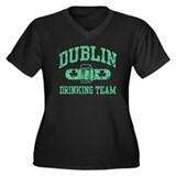 Dublin Drinking Team Women's Plus Size V-Neck Dark