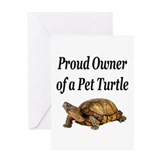 Proud Turtle Owner Greeting Card