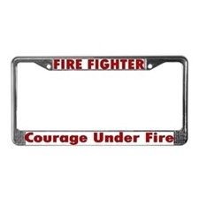 """Courage Under Fire"" License Plate Frame"