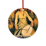 Women Power Poster Art Ornament (Round)
