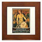 Women Power Poster Art Framed Tile