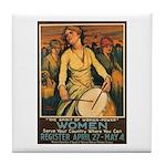 Women Power Poster Art Tile Coaster