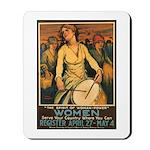 Women Power Poster Art Mousepad