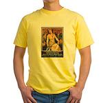 Women Power Poster Art Yellow T-Shirt