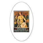 Women Power Poster Art Oval Sticker