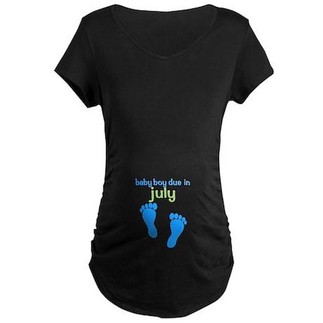 Blue Footprints (Boy Due Date T-Shirt)