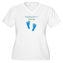 Blue Footprints (Boy, Due Dat Women's Plus Size V-