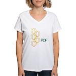 PDF's Women's V-Neck T-Shirt